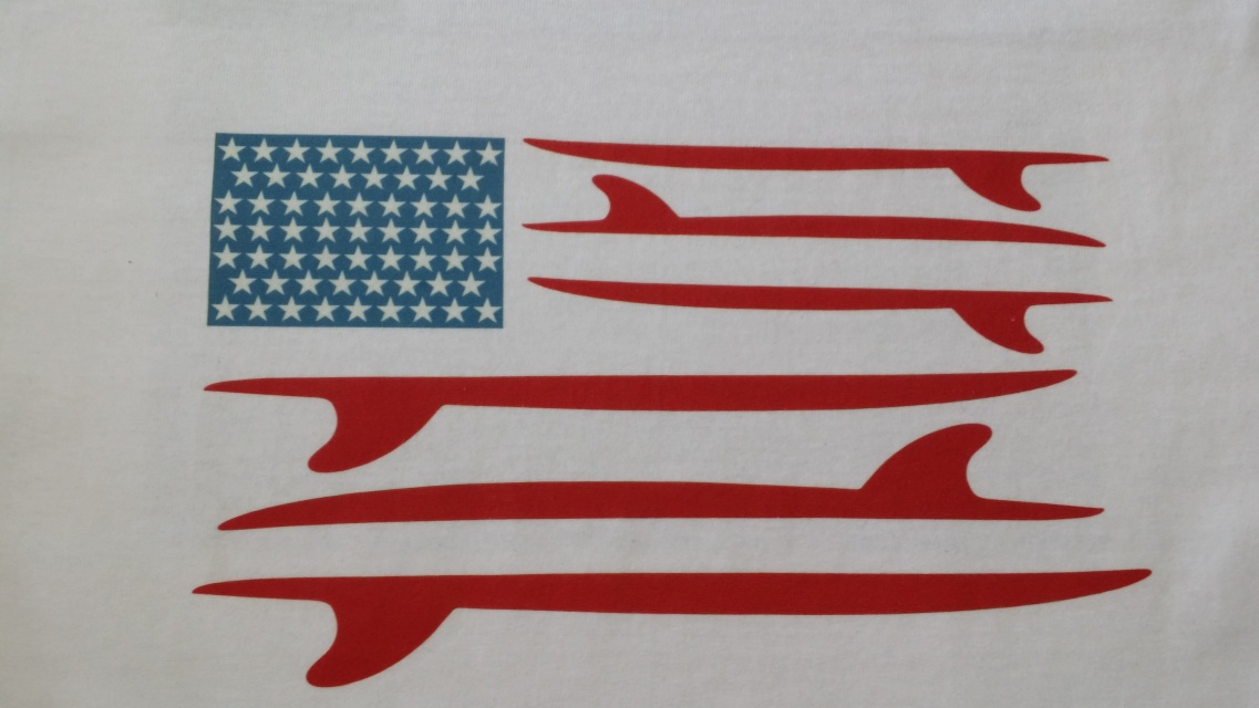 American Flag Inspired Surfboard Style
